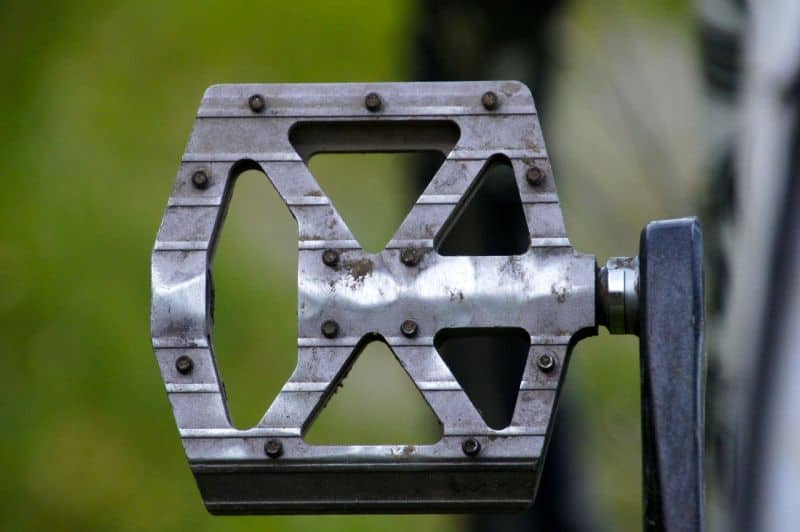 Use penetrating fluid on seized pedals