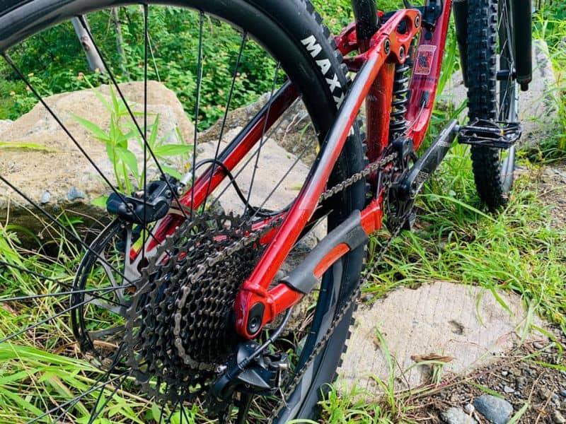 conclusion - putting chain on the mountain bike